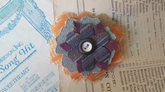 Hair Clip Handmade Fabric Floral Hair by TheRaggedyBouquet on Etsy