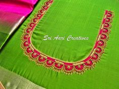 40 latest maggam work blouse designs simple maggam work blouse designs 30 latest patch work blouse back and simple aari work design for Maggam Work Blouses Design Ue In … Best Blouse Designs, Wedding Saree Blouse Designs, Simple Blouse Designs, Blouse Neck Designs, Magam Work Blouses, Traditional Blouse Designs, Embroidery Neck Designs, Aari Embroidery, Maggam Work Designs