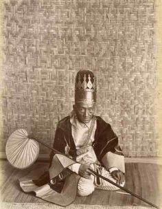 Burma c 1890 Felice Beato Phot. BIRMANIE BURMA PRÊTRE Le portrait d'un prêtre