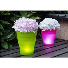 Great Idea Flower Pots Painted With Rustoleum 39 S Glow In The Dark Paint