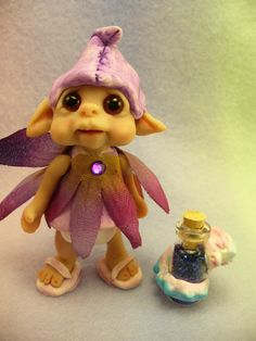A little FAIRY and her tiny dragon by trolltracks on Etsy, $35.00