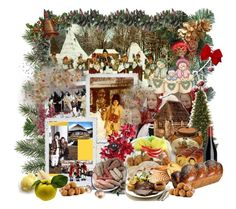 """""""Winter Romanian Traditions"""" by andra-pop ❤ liked on Polyvore featuring art"""