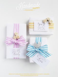 Pretty Summer Packages by GHIRLANDADIPOPCORN.com | Handmade Happy Magazine