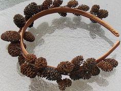 Natural Alder Cone Fairy Headband, Brown Fairy Crown for Wood Elves, Forest Fairies, or Male Fairies, Woodland Crown G14