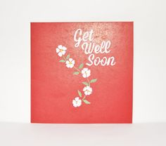 Greeting card. Blank card. Flower card. White flowers. Get well soon.. Hand painted. Hand made. Gift card. Special occasion. on Etsy, $12.00 AUD