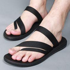 Hombres zapatos de playa antideslizante Simple Vietnam moda sandalias