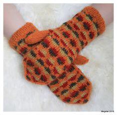 Megetar: Kirjoneulelapaset Knitting Socks, Knit Socks, Mittens, Gloves, Winter, Fashion, Breien, Ideas, Fingerless Mitts