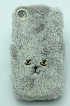 #fuzzy #cat #iphone #case