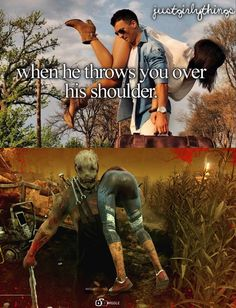 ♡ On Pinterest @ kitkatlovekesha ♡ ♡ Pin: Video Games ~ Dead By Daylight ~ When He Throws You Over His Shoulder ♡