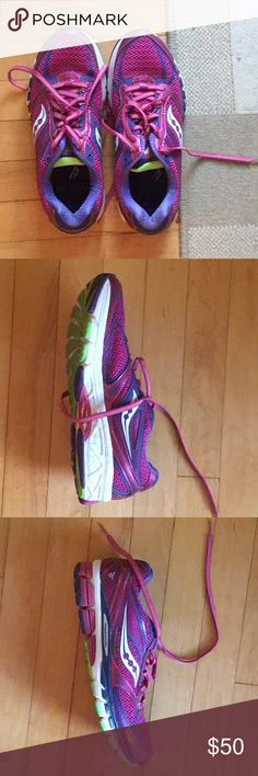 on sale 5bf34 ed3e9 Saucony Women s Guide Size 10 Running Shoe Purple  Power Grid 8 mm offset   Worn outside once  Like Brand new. Saucony Shoes Athletic Shoes