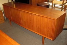 Danish modern bow front #teak sideboard by Arne Vodder for H.P. Hansen. A fantastic deal at just $2200.00! SOLD!