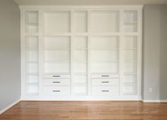 Urfint Ikea-hack platsbyggd bokhylla med Ikeas Hemnes