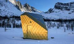 Ersfjordstranda, art along the National Touristroad at Senja - a public toilet!