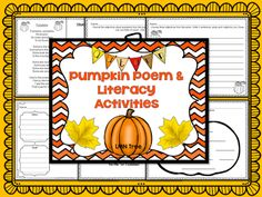 Purring about a Pumpkin Poem and Literacy Activities Packet - Classroom Freebies
