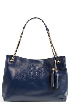 Women's Tory Burch 'Thea' Patent Chain Slouchy Tote from Nordstrom on Catalog Spree