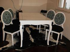 Juego de comedor - madera de guindo laqueado poliuretánico Aprigliano Muebles