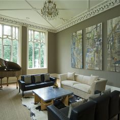 Farrow And Ball Living Room modern country style study farrow and mouse s back 10 living rooms that will make you want to redecorate traditional neutral living Room, Farrow And Ball Living Room, Modern Room, Living Room Paint, Home, Living Room Modern, Drawing Room Blue, Farrow Ball, Modern Country Style