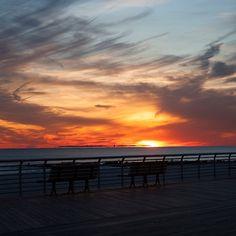 Sit for a Spell https://goo.gl/UBLwUL #boardwalk #sunset #surf #surfing #beach #ocean #jetty #lbny #longbeachny #kdinanphotography