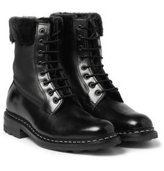 HeschungZermat Shearling-Lined Leather Lace-Up Boots