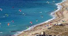 Kite surf near the town of Lefkada