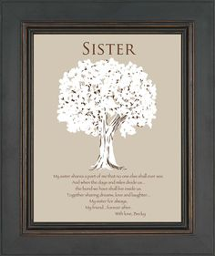 SISTER Gift Personalized Gift for Sister by KreationsbyMarilyn, $15.00