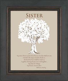 Schwester Geschenk  personalisierte Geschenk von KreationsbyMarilyn