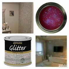 Glitter on the walls how cool is that...