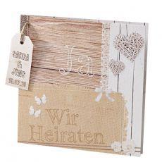 Einladungskarte Hochzeit Shabby Chic 723073