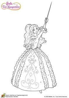 Coloriage Barbie Princesse Dessin Gratuit Coloriage Barbie Sirene