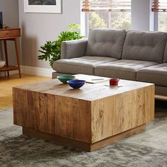 "Plank Coffee Table #westelm - 34"" square - $999 (less 20% is $799.20)"