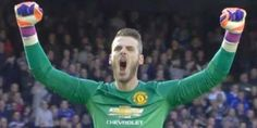 David De Gea celebrates WAY too early against Chelsea - and the internet . Eden Hazard, Manchester United, Ronald Mcdonald, Madrid, Chelsea, Bring It On, The Unit, Celebrities, Internet