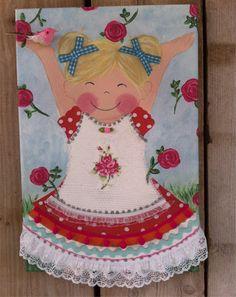 Free! Painting by Dikke Kus Kinderkamerkunst www.dikkekus.com