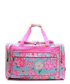 7df39c4ea824 Personalized Duffle Bag. Floral Rose Pink Duffle Gym Bag Sports Carry On Travel  Tote. Handbags Happen Here.com
