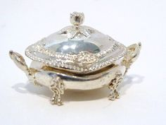 Peter Acquisto Miniature Sterling Silver Limited edition bombe tureen after original Pail Storr London 1810