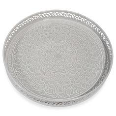 Bandeja de metal gris D 31 cm KAOMA