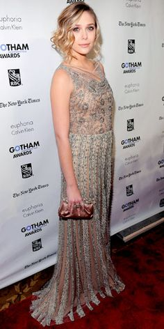Lace dress  Elizabeth Olsen - Look of the Day - InStyle