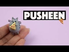 Pusheen Cat with Pizza Slice polymer clay tutorial