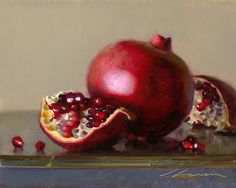 pomegranate - Jeffrey T. Larson - oil on canvas