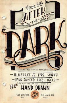 'After The Dark' Solo Exhibition Deck Series by Georgia Hill, via Behance