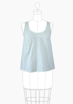 Tiny Pocket Tank - Grainline Studio GARMENT DETAILS A great basic top for spring and summer which does double duty as a layering piece in the fall