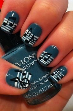 Music Notes Nail Art - I have no idea how to do this, but I really want to!!!