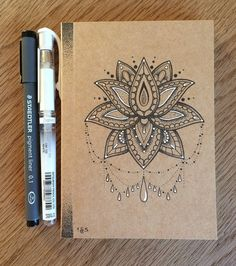 ♥ A6 Hand Illustrated Brown Notebook ♥