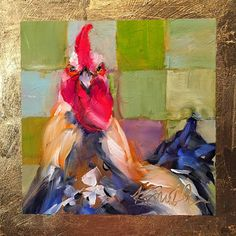 Running wild is an original oil painting of a sassy rooster by Lancaster, Pa artist Kim Smith. He's on his way to somewhere amazing...