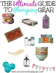 Glamp my Campsite: The Ultimate Guide to Glamping Gear - Suitcases and Sippy Cups