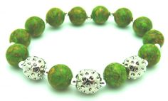 SlamGlam - Sporty Chic Designs Green Golf Bracelet.  Sporty Chic Designs golf bracelet are a unique golf gift for just about any occasion.  Add fun, fashion and polish to your game on and off the course!