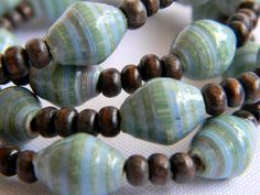 Support a great cause & fair trade in Nicaragua!   Medium Paper beads by Bead Amiga