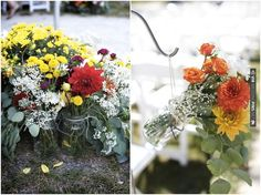 Rustic Chic DIY Wedding aisle decor   photos by Simply Jessie Photography   CHECK OUT MORE IDEAS AT WEDDINGPINS.NET   #weddings #weddingflowers #weddingbouquets #bouquets