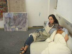 Varda Caivano in her studio.