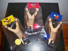 Angry Birds Birthday Party favor sling shots