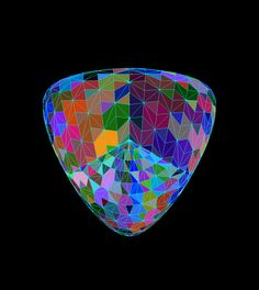 A triangulation of the Steiner Roman projective plane surface Geometric Solids, Fractals, Surfboard, Music Instruments, Sculpture, Plane, Roman, Surface, Paintings